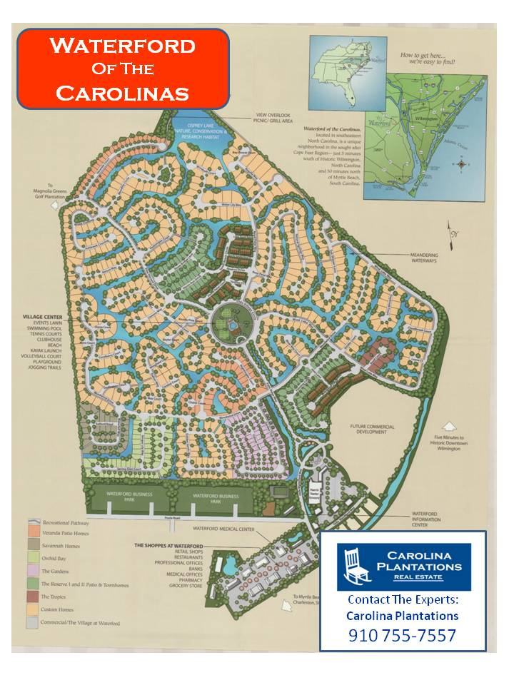 Waterford Of The Carolinas Community Map