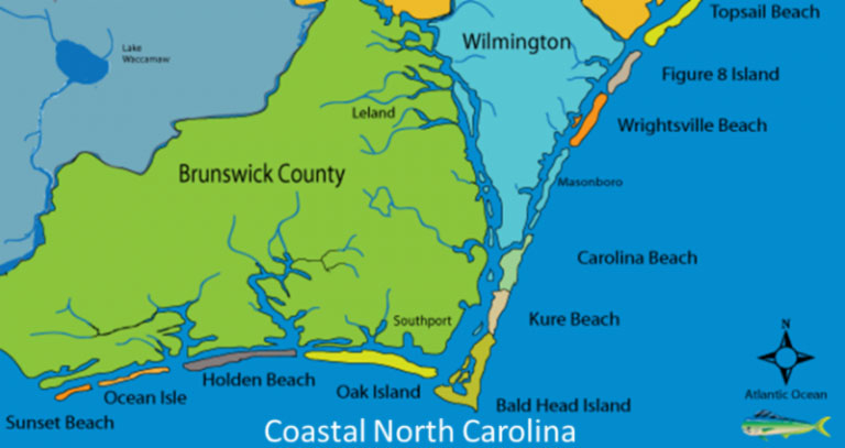 Map of Coastal North Carolina