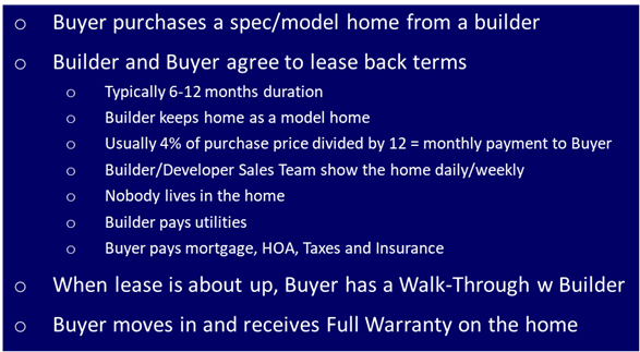 Three Lease Back Opportunities